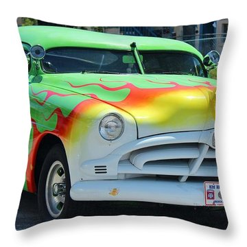 Hudson Low Rider Roadster Throw Pillow by Rene Triay Photography