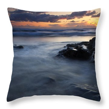 Hug Point Sunset Throw Pillow by Mike  Dawson