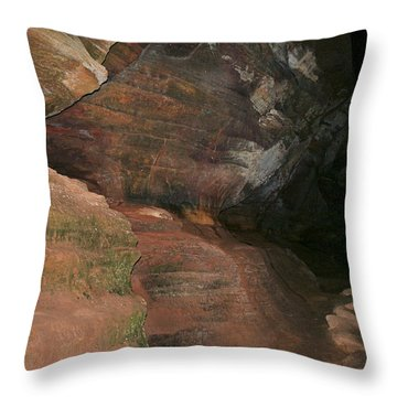 Huge Musky Cave Throw Pillow by Richard Gregurich