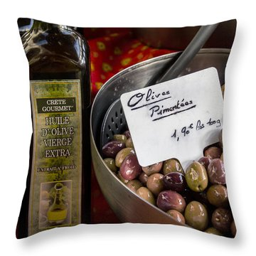 Huile D' Olive Throw Pillow