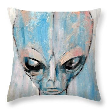 Human I Am Human Let Me Remain Throw Pillow by Fabrizio Cassetta