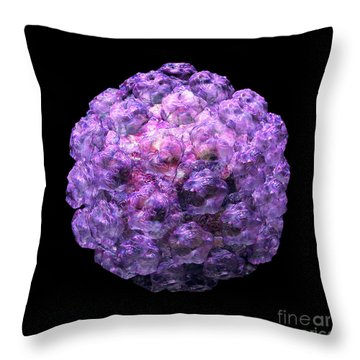 Throw Pillow featuring the digital art Human Papilloma Virus  10 by Russell Kightley