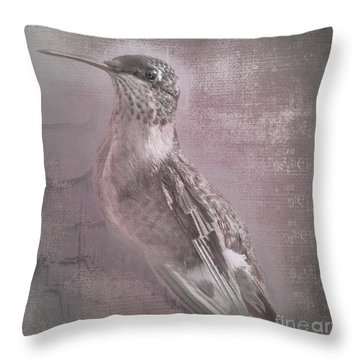 Hummer Portrait Throw Pillow