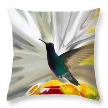 Hummingbird Series Vii Throw Pillow by Al Bourassa