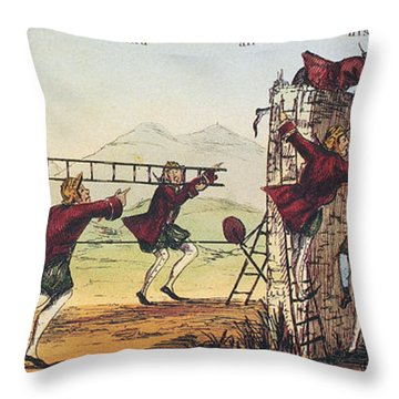 Humpty Dumpty, 1843 Throw Pillow by Granger