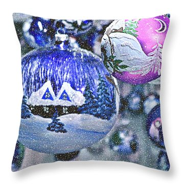 Hung With Love Throw Pillow by Christine Till