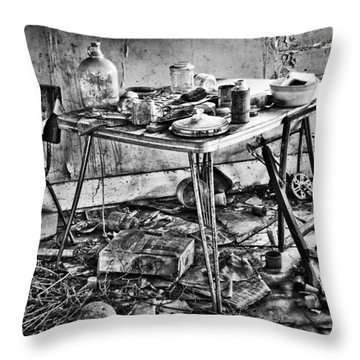 Hungry Helpers Throw Pillow by Empty Wall