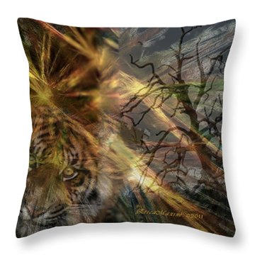 Throw Pillow featuring the photograph Hunter by EricaMaxine  Price