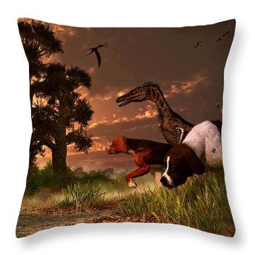 Hunting In The Age Gene Splicing Throw Pillow by Daniel Eskridge