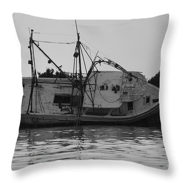 Throw Pillow featuring the photograph Hurricane Boat by Luana K Perez