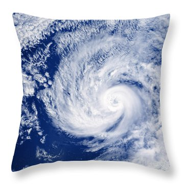 Hurricane Cosme Throw Pillow by Science Source