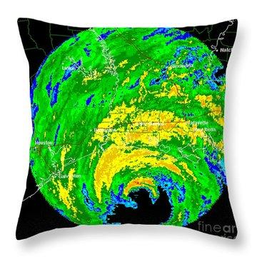 Hurricane Rita, Wfo Radar, 2005 Throw Pillow by Science Source