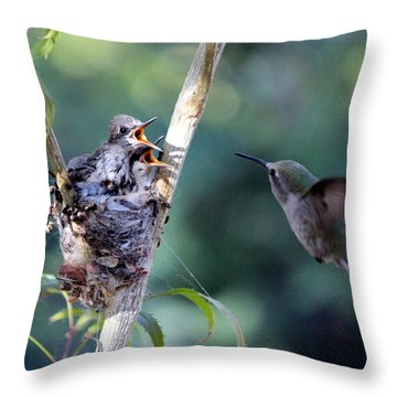 Throw Pillow featuring the photograph Hurry Mom by Jo Sheehan