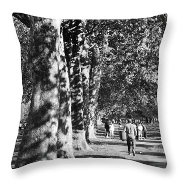 Throw Pillow featuring the photograph Hyde Park Trees by Maj Seda