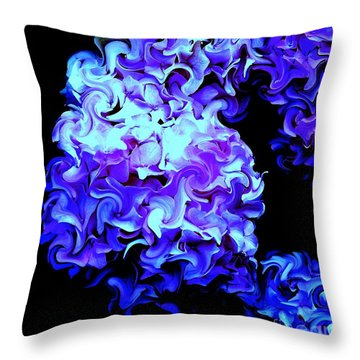 Throw Pillow featuring the digital art Hydra Swirl by Greg Moores