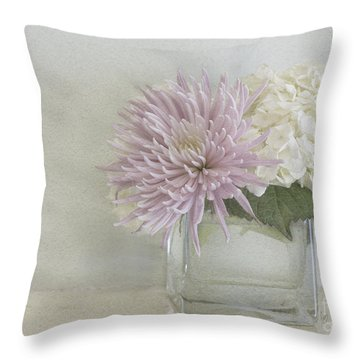 Hydrangea And Mum Throw Pillow