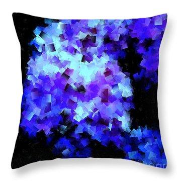 Hydrangea Cubed Throw Pillow
