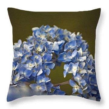 Hydrangea Throw Pillow by Elsa Marie Santoro