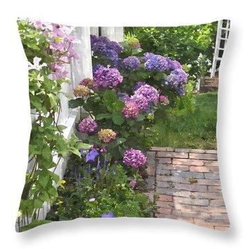 Hydrangeas  Hwc Throw Pillow