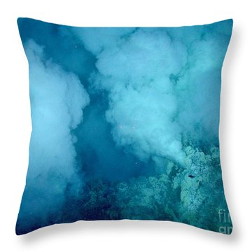 Hydrothermal Smoker Vent Throw Pillow by Science Source