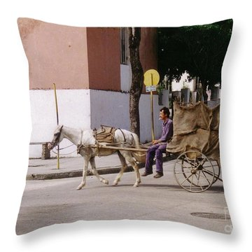 I Am My Own Boss Throw Pillow by John Malone