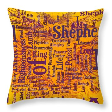 I Am Shepherd 2 Throw Pillow by Angelina Vick