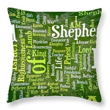 I Am Shepherd Throw Pillow by Angelina Vick