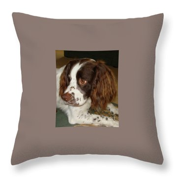 Throw Pillow featuring the photograph Baby Face by Katy Mei