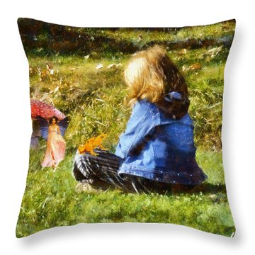 I Believe In Fairies Throw Pillow