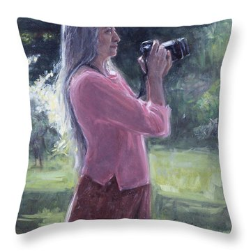 I. Bohorquez Throw Pillow by Sarah Yuster