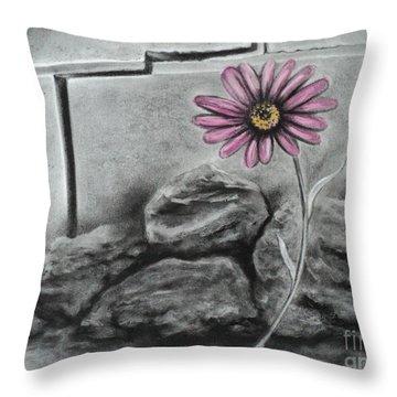 I Dance Alone Throw Pillow by Carla Carson