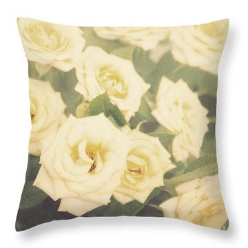 Yellow Roses Throw Pillow