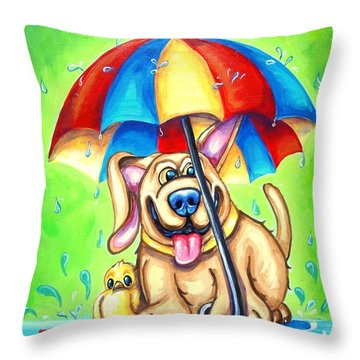 I Got Your Back Throw Pillow by Sandra Lett