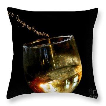 I Heard It Through The Grapevine Throw Pillow by Linda Galok