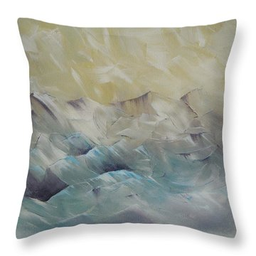 Throw Pillow featuring the painting I Like It When It's Cold  by Dan Whittemore