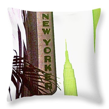 I Love New York Throw Pillow by Beth Saffer