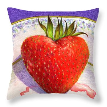 I Love You Berry Much Throw Pillow