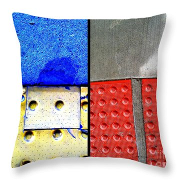 I Luv Hue Four Throw Pillow by Marlene Burns
