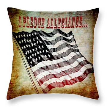 I Pledge Allegiance Throw Pillow by Angelina Vick