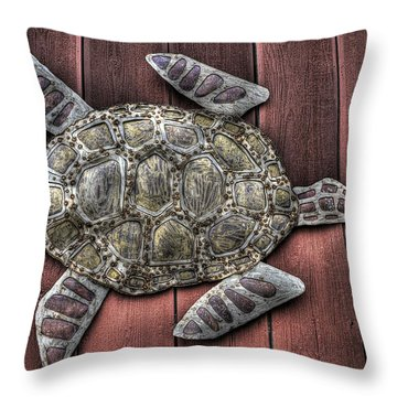 I Swim On The Barn Wall Throw Pillow by William Fields