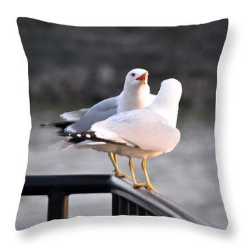 I Told You   Im Tired Of Fish Damnit Throw Pillow by Michael Frank Jr