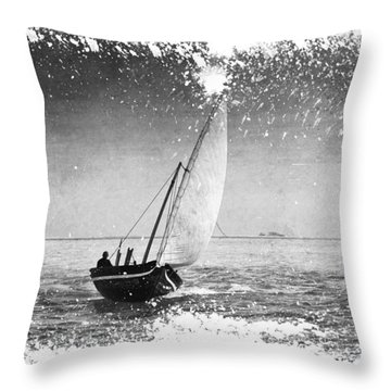 I Want To Ride On The Wind. Dhoni Boat. Maldives Throw Pillow by Jenny Rainbow