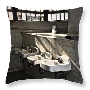 I Wash My Hands Throw Pillow by Gwyn Newcombe