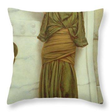 Ianthe Throw Pillow by John William Godward