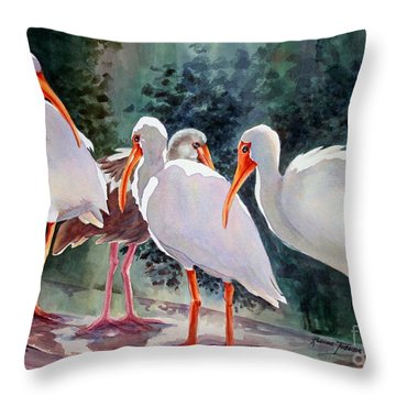 Ibis - Youngster Among Us. Throw Pillow by Roxanne Tobaison