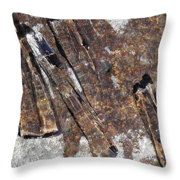 Ice Crystals 2 Throw Pillow