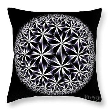 Ice Flowers Throw Pillow by Danuta Bennett