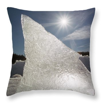 Ice Formation Along The Bow River Throw Pillow by Darwin Wiggett