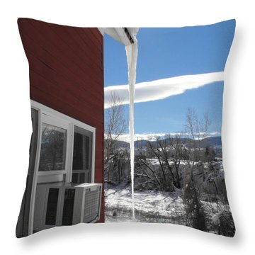 Ice In Motion Throw Pillow