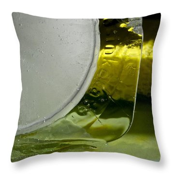 Ice Obsession One Throw Pillow by Gwyn Newcombe